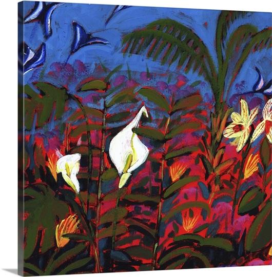 Exotic Garden, 2008 (acrylic on board)