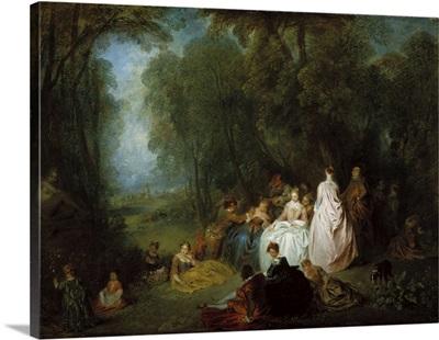 Fete champetre, 1718-21
