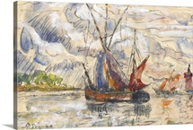 Fishing Boats in La Rochelle, c.1919-21
