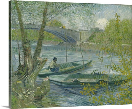 Fishing in Spring, the Pont de Clichy, 1887