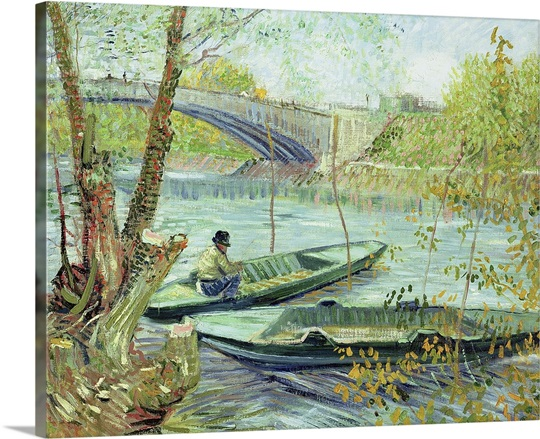 Fishing in the Spring. Pont de Clichy, 1887 (oil on canvas)