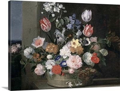 Flowers in a Basket, 1650-56