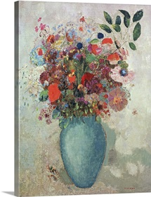 Flowers in a Turquoise Vase, c.1912 (oil on canvas)