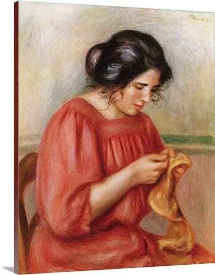 Gabrielle darning, 1908
