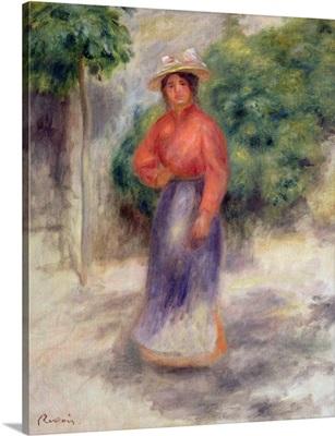 Gabrielle in the garden, c.1905