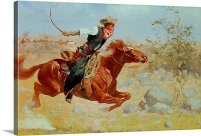 Galloping Horseman, c.1890