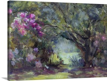 Garden at Curanilahue, Chile, 1998 (oil on canvas)