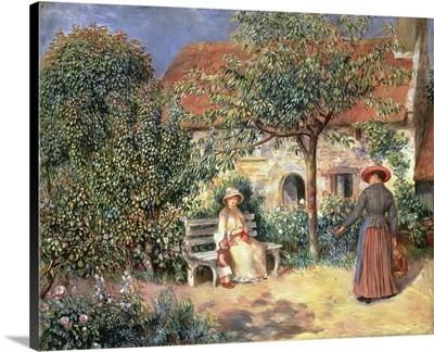 Garden Scene In Brittany, 1886
