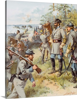 General Stonewall Jackson at the First Battle of Bull Run, 17th August, 1861