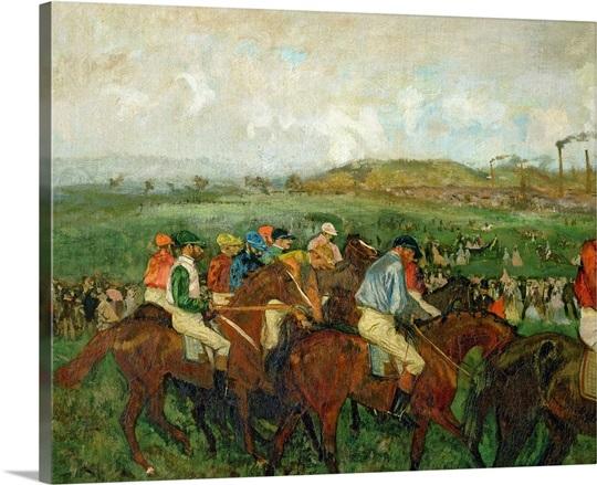 Gentlemen race. Before the Departure, 1862 (oil on canvas)