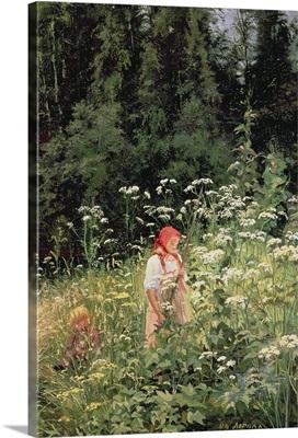 Girl among the wild flowers, 1880