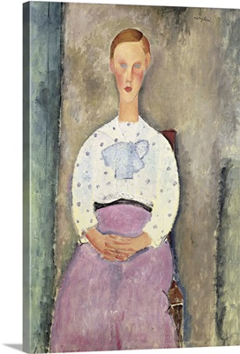 Girl With A Polka-Dot Blouse, 1919