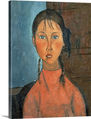 Girl with Pigtails, c.1918