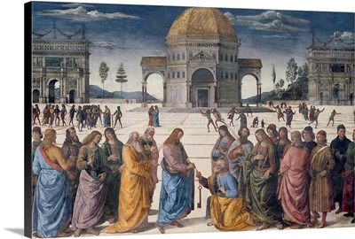 Giving of the Keys to St. Peter, from the Sistine Chapel, 1481