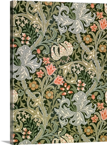 Golden Lily Wallpaper Designed By John Henry Dearle For Morris And Company 1897
