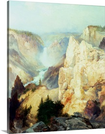 Grand Canyon of the Yellowstone Park (oil on canvas)