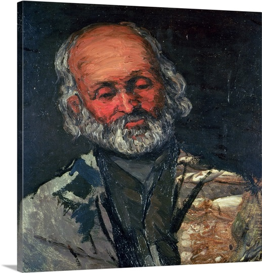 Head of an Old Man, c.1866 (oil on canvas)