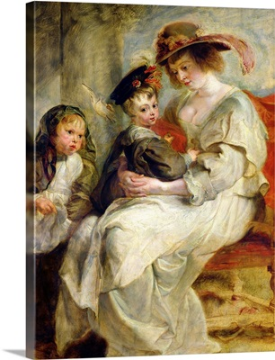 Helene Fourment (1614 73) with Two of her Children, Claire Jeanne and Francois, c.1636 37