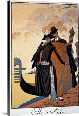 Her and Him, Fashion Illustration, 1921
