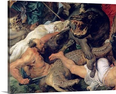 Hippopotamus and Crocodile Hunt, c.1615 16