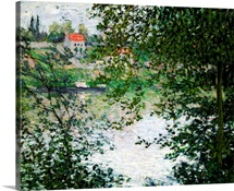 Ile de La Grande Jatte Through the Trees, 1878 (oil on canvas)