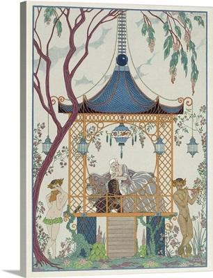 Illustration for 'Fetes Galantes' by Paul Verlaine