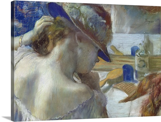 In Front of the Mirror, 1889 (pastel on paper) (see 141380 for unframed version)