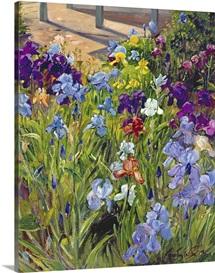 Irises and Summer House Shadows, 1996 (oil on canvas)
