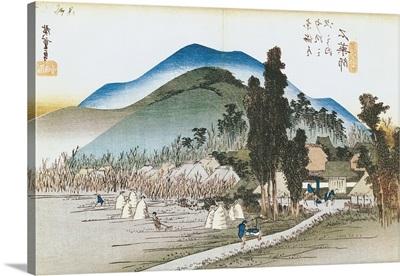Ishiyakushi, from the series 53 Stations of the Tokaido, 1833-34