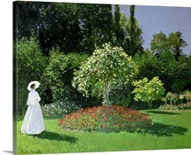 Jeanne Marie Lecadre in the Garden, 1866 (oil on canvas)