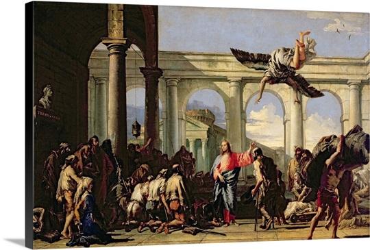 Jesus Healing The Paralytic At Pool Of Bethesda C1759