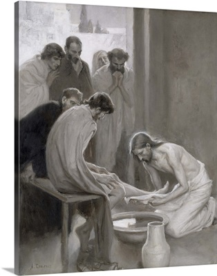 Jesus Washing the Feet of his Disciples, 1898