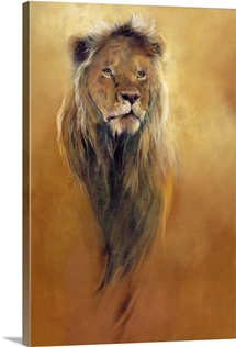 King Leo, 2000 (acrylic and pencil crayon on canvas)