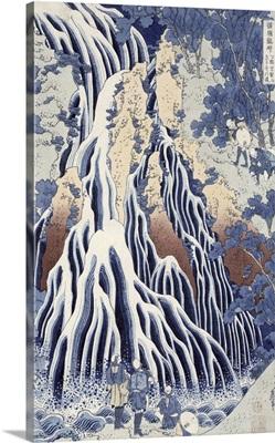 Kirifuri Fall on Kurokami Mount, from the series Shokoku Taki Meguri