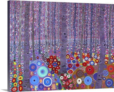 Klimt's Forest, 2010, (acrylic on canvas)