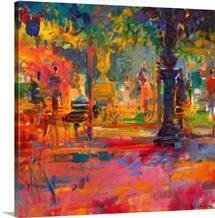 La Terrasse du Jardin (oil on canvas)