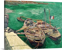 Landing Stage with Boats, 1888 (oil on canvas)