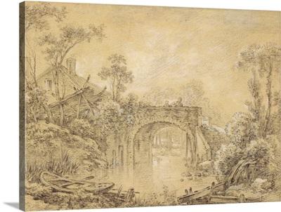 Landscape with a Rustic Bridge, c. 1740