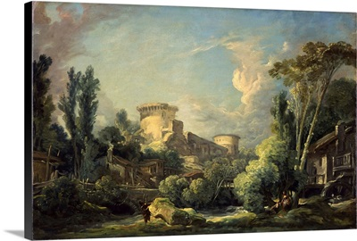 Landscape With Castle And Mill, C1765