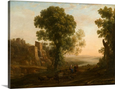Landscape With Peasants Returning With Their Herds, C1637