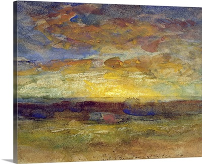 Landscape with Setting Sun