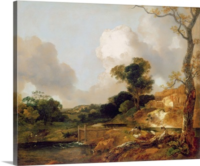 Landscape with Stream and Weir