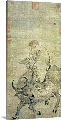 Lao-tzu (c.604-531 BC) riding his ox, Chinese, Ming Dynasty (1368-1644)