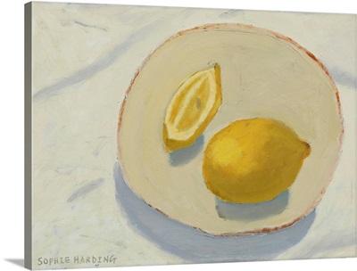 Lemons on Handmade Plate