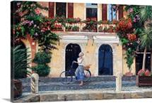 Limone, Lake Garda, Italy, 2003 (oil on canvas)