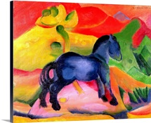 Little Blue Horse, 1912 (oil on canvas)