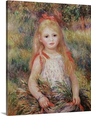 Little Girl Carrying Flowers, or The Little Gleaner, 1888