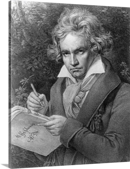 ludwig van beethoven composing his missa solemnis 1819