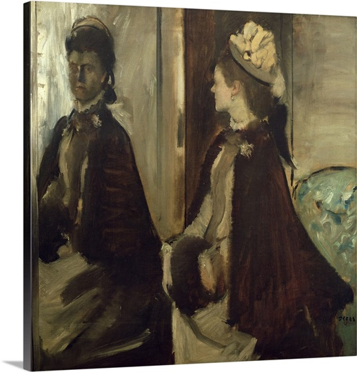 Madame Jeantaud in the mirror, c.1875 (oil on canvas)
