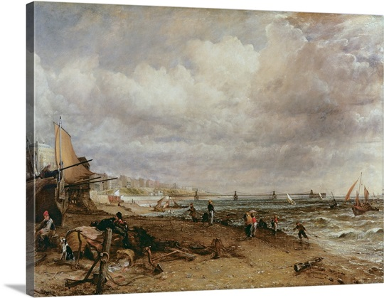 Marine Parade and Old Chain Pier, 1827 (oil on canvas)